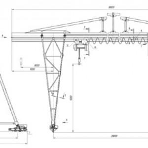 Кран козловой трубчатой конструкции ККТ-5; ККТ-10