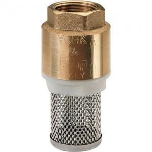 Клапан обратный латунный приемный с сеткой SEAGULL